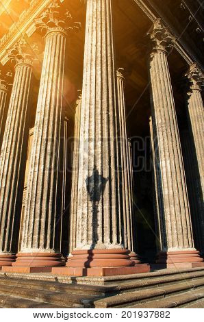 Kazan Cathedral colonnade in Saint Petersburg Russia. Saint Petersburg Russia architecture landmark