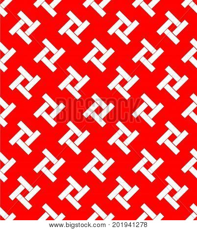 Japanese abstracted form on red background great