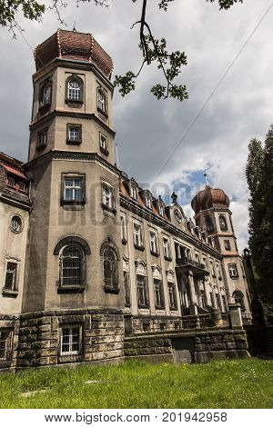 Brynk Palace and Park complex in Poland now the seat of the Forest School