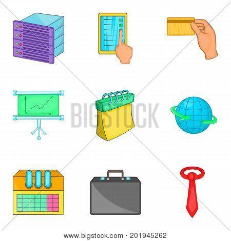 Computation icons set. Cartoon set of 9 computation vector icons for web isolated on white background