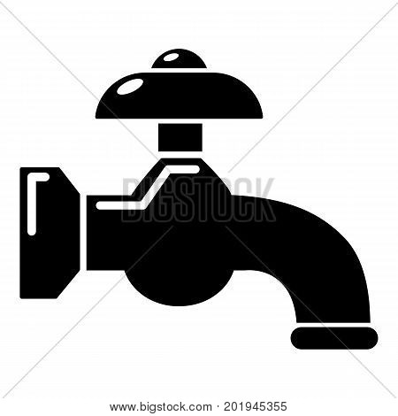 Water tap icon. Simple illustration of water tap vector icon for web