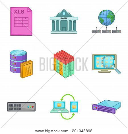 Bankroll icons set. Cartoon set of 9 bankroll vector icons for web isolated on white background