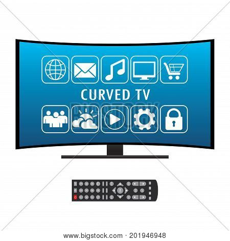 Remote Control And Curved Ultra Hd Tv