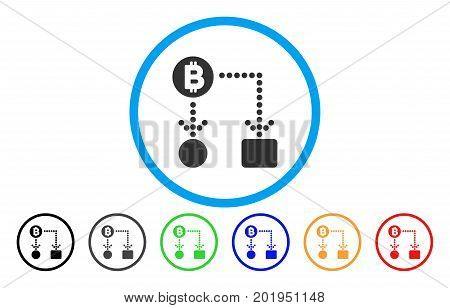 Bitcoin Cashflow flat vector pictograph for application and web design.