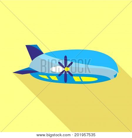 Modern airship icon. Flat illustration of modern airship vector icon for web
