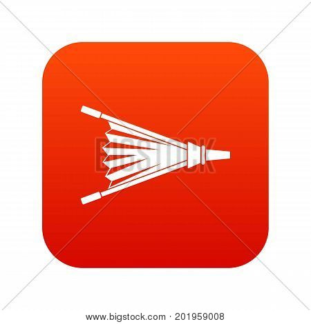 Fire bellows icon digital red for any design isolated on white vector illustration