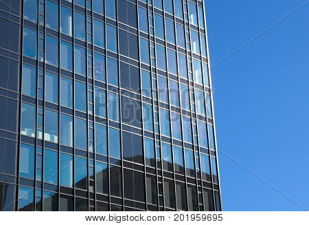 business office building glass window skyscraper perspective tower success commercial structure