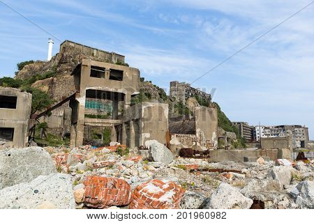 Hashima Island in Nagasaki city