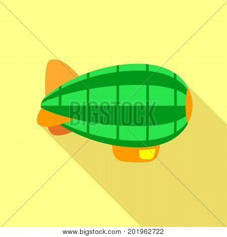 Retro airship icon. Flat illustration of retro airship vector icon for web