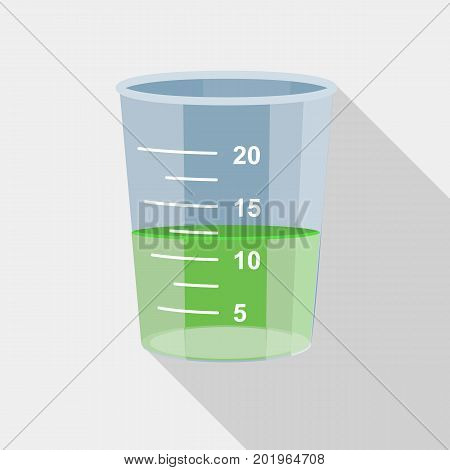 Measuring cup icon. Flat illustration of measuring cup vector icon for web