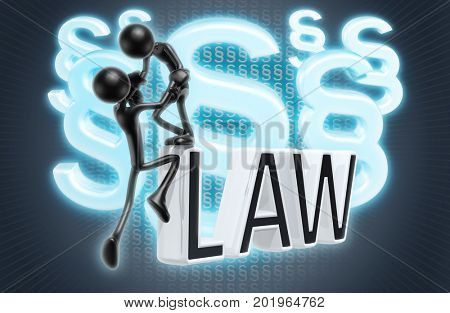 Legal Help The Original 3D Characters Illustration