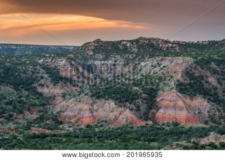 Colorful Walls In Palo Duro Canyon
