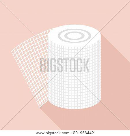 Bandage icon. Flat illustration of bandage vector icon for web