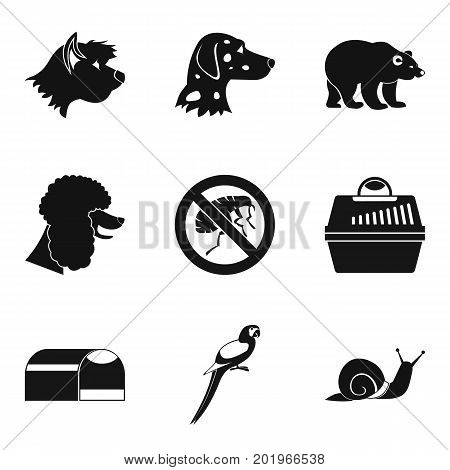 Canis icons set. Simple set of 9 canis vector icons for web isolated on white background