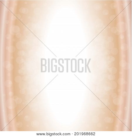 pink Nude background with transparent waves and circles