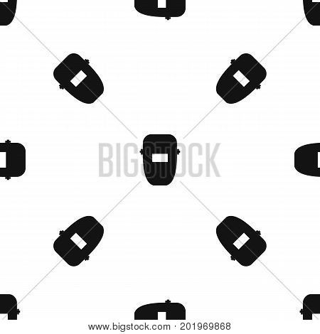 Welding mask pattern repeat seamless in black color for any design. Vector geometric illustration