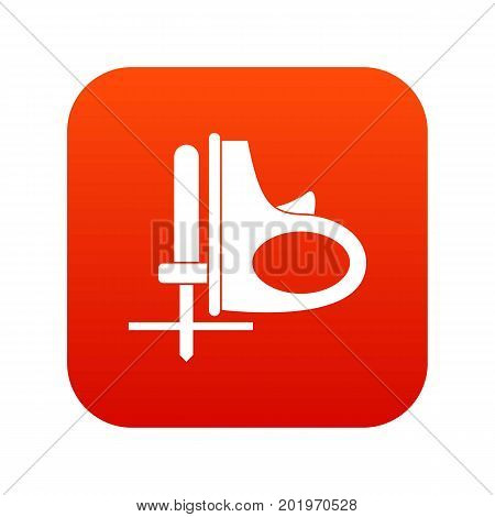 Cordless reciprocating saw icon digital red for any design isolated on white vector illustration