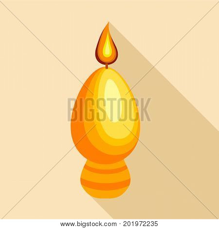 Egg candle icon. Flat illustration of egg candle vector icon for web