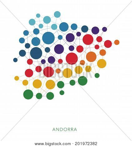 dotted texture Andorra vector rainbow colorful background