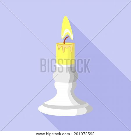 Burnt candle icon. Flat illustration of burnt candle vector icon for web