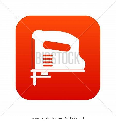Pneumatic gun icon digital red for any design isolated on white vector illustration