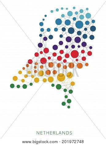 dotted texture Netherlands vector rainbow colorful background