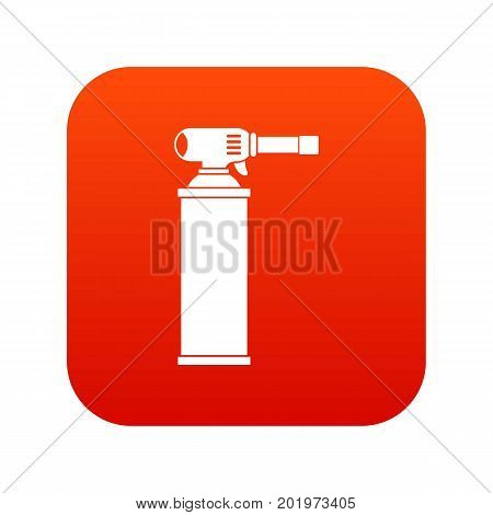 Gas cylinder icon digital red for any design isolated on white vector illustration