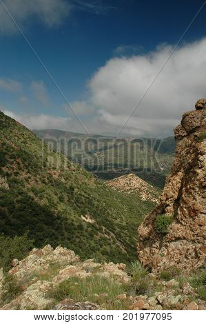 A view from the rugged Peloncillo mountains in south eastern Arizona.