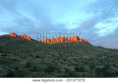 A view from the Pajarito mountains along the Arizona Mexico border.