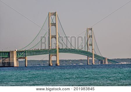 The Mackinac Bridge is currently the fifth longest suspension bridge in the world.