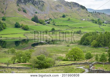Langdale Tarn in Little Langdale, English Lake District