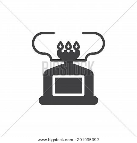 Camping gas stove icon vector, filled flat sign, solid pictogram isolated on white. Burner symbol, logo illustration. Pixel perfect vector graphics