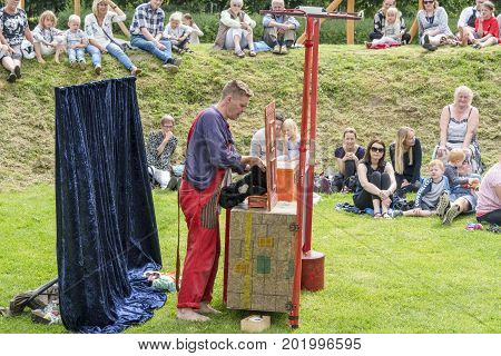 Open Air Theater Using Props And Stuffed Animals