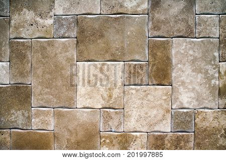 Brick, stone architectural masonry. Background image close-up.