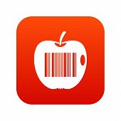 Code to represent product identification icon digital red for any design isolated on white vector illustration poster