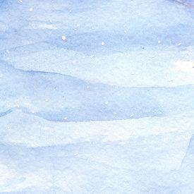 Watercolor light blue winter snow sky texture background