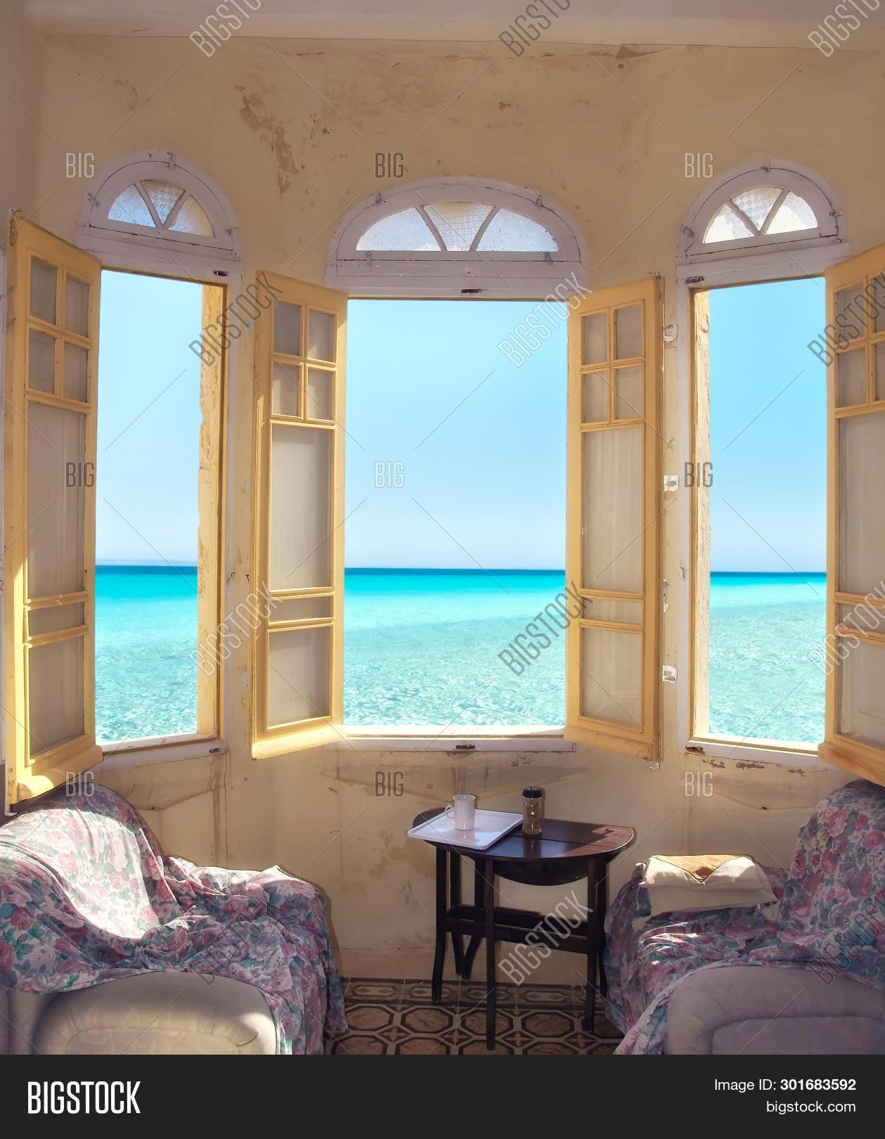Window Old Flat Sea Image Photo Free Trial Bigstock