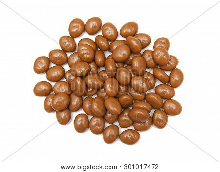 Chocolate Candies Isolated On The White Background