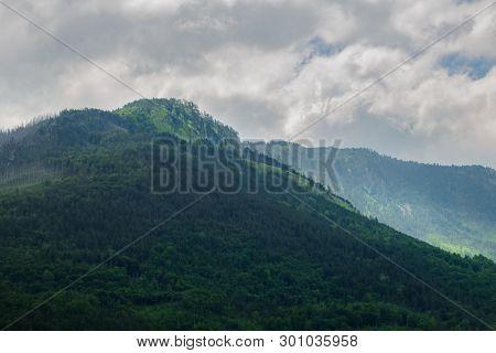 Beautiful Mountains of the River Tara Canyon. Durmitor National Park in Montenegro, Balkans, Europe