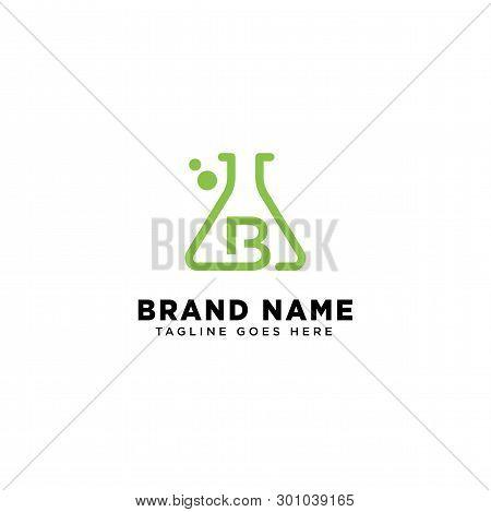 Initial B Molecular Dna Logo Design Template Vector Illustration Icon Element-vector