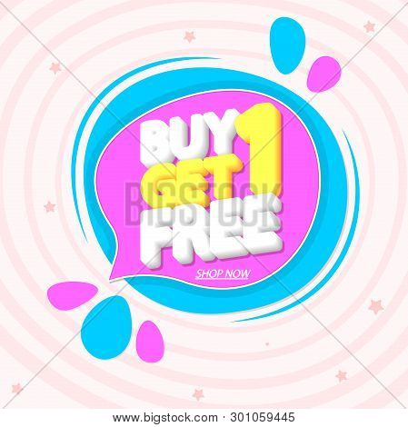 Buy 1 Get 1 Free, Vector & Photo (Free Trial) | Bigstock