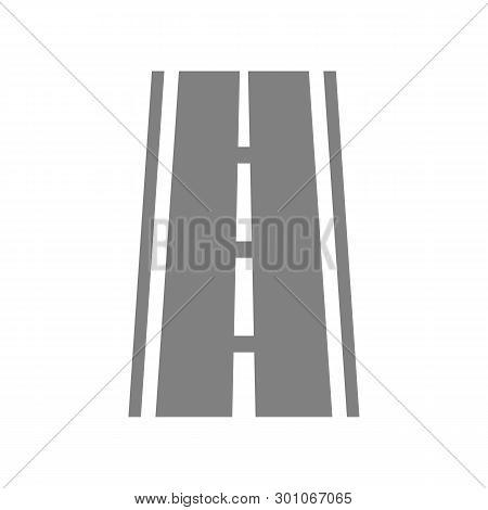 Road With Broken Line Icon, Road With Broken Line Icon Eps10, Road With Broken Line Icon Vector, Roa