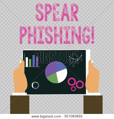 Conceptual Hand Writing Showing Spear Phishing. Business Photo Showcasing Sending Fake Emails To Ext
