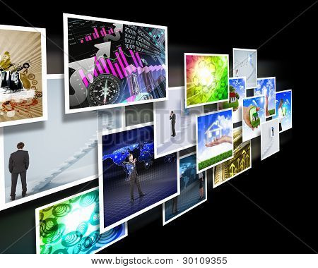 Screens with images flow