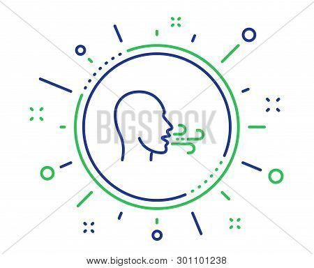 Breathing Line Icon. Breath Difficulties Sign. Respiration Problems Symbol. Quality Design Elements.