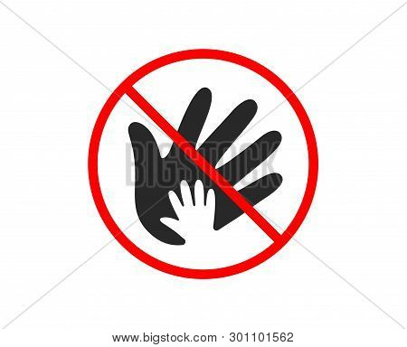 No Or Stop. Hand Icon. Social Responsibility Sign. Honesty, Collaboration Symbol. Prohibited Ban Sto
