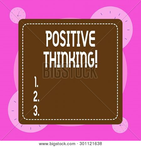 Conceptual Hand Writing Showing Positive Thinking. Business Photo Showcasing Mental Attitude In Wich