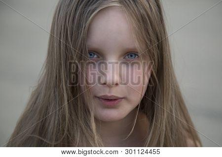 Syktyvkar,komi/russia, May 12,2019/ Portrait Of A Beautiful Girl On A City Street.
