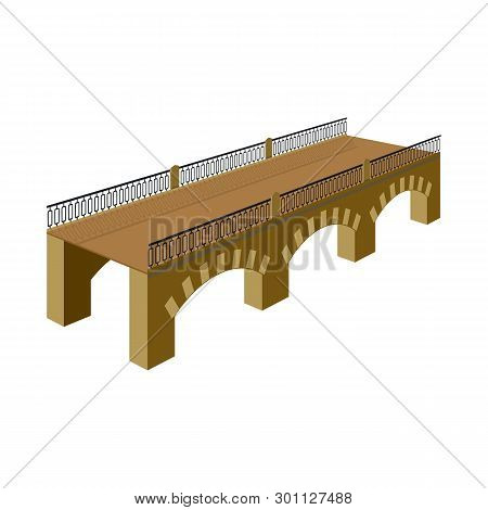 Isolated Object Of Bridge And Relocation Sign. Collection Of Bridge And Column Vector Icon For Stock