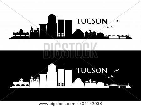 Tucson Skyline - Arizona - Vector Illustration - Vector